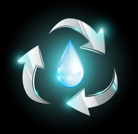 Recycle water droplet Illustration