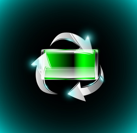 rechargeable: Rechargeable battery Illustration