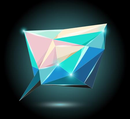 Polygonal speech element Illustration