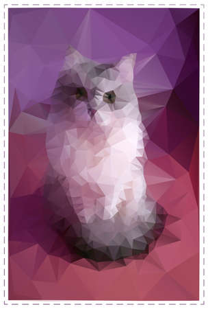 Cat made of polygonal shapes