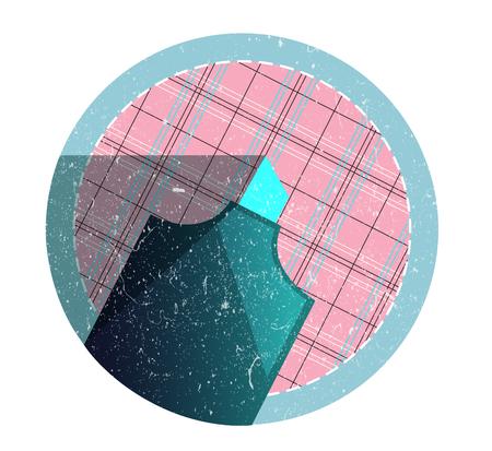 플랫 패턴 표면에 빈티지 복고풍 마커
