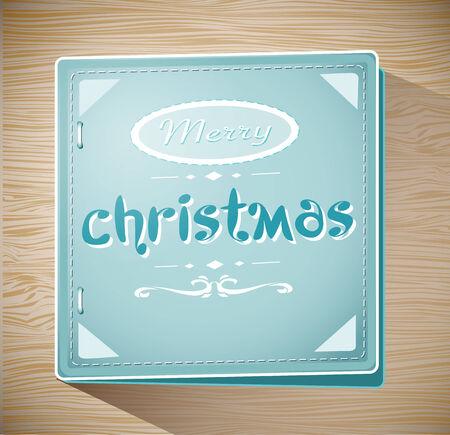 빈티지 복고풍 메리 크리스마스 카드