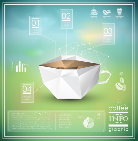 Coffee info graphic elements and design
