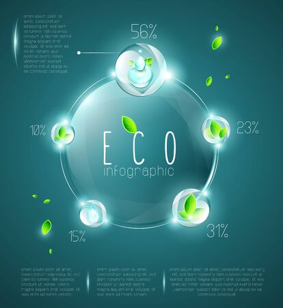 Eco infographic, structured and named layers Illustration