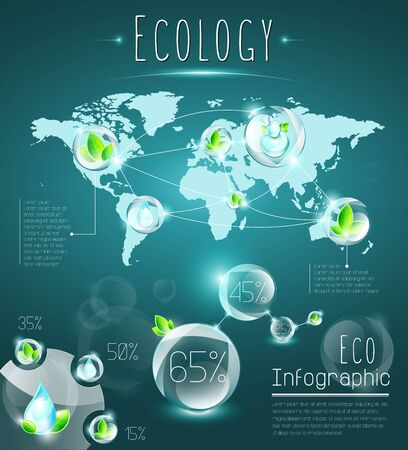 named: Eco infographic, structured and named layers Illustration