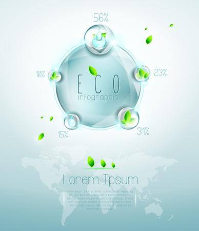 Ecological infographic Illustration