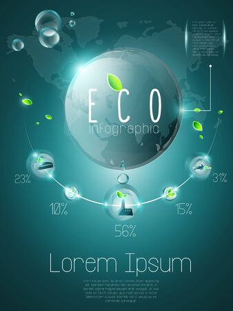 Ecological infographic, named layers Illustration