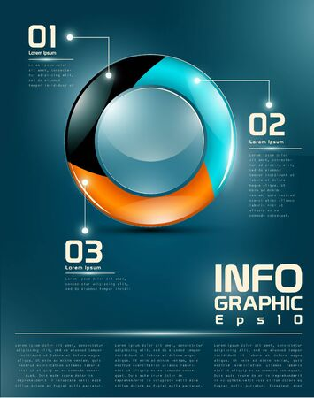 Infographic UI elements named layers Illustration