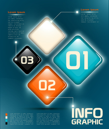 Infographic UI 요소 명명 및 구조화 된 레이어 EPS 10 투명성