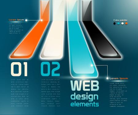 웹 디자인 요소 층 투명성 이름 일러스트