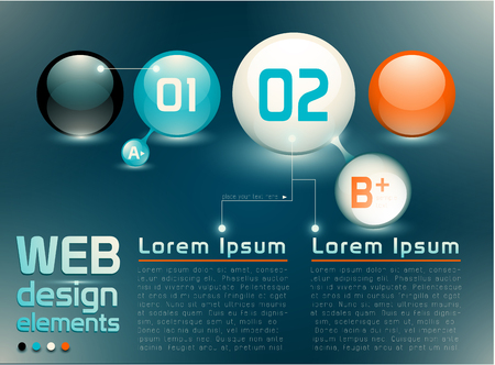 Web design elements named layers EPS 10 transparency Vector