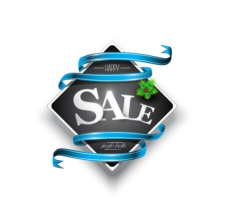 Christmas sales banner, Vector illustration