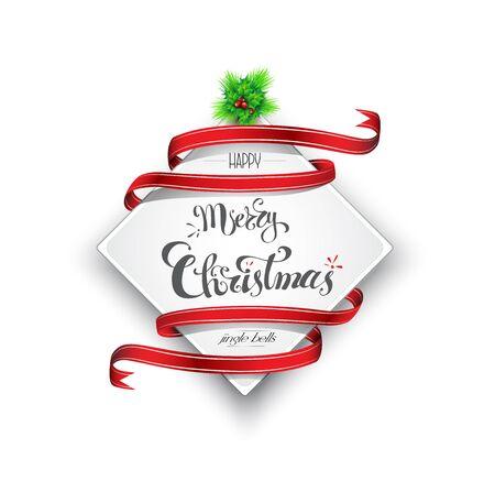 Merry Christmas banner, Vector illustration Illustration