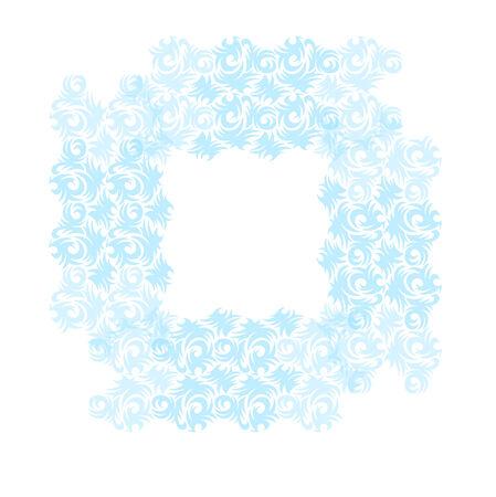 curls: ornamental frame with  curls, border