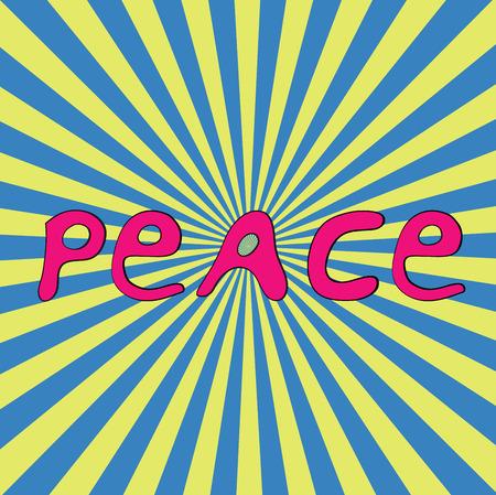 Hand-drawn word Peace for Ukraine. National flag colours. Vector illustration Vector