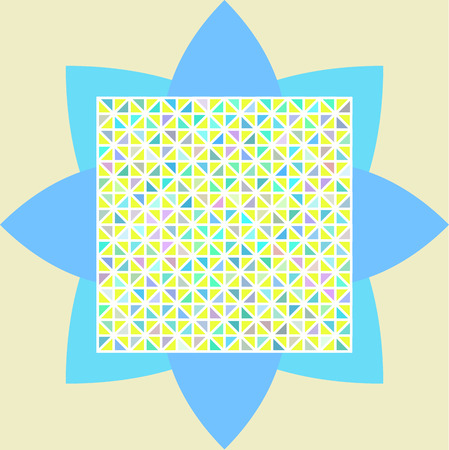 aquamarin: Seamless pattern with colorful triangles for background. Vector illustration