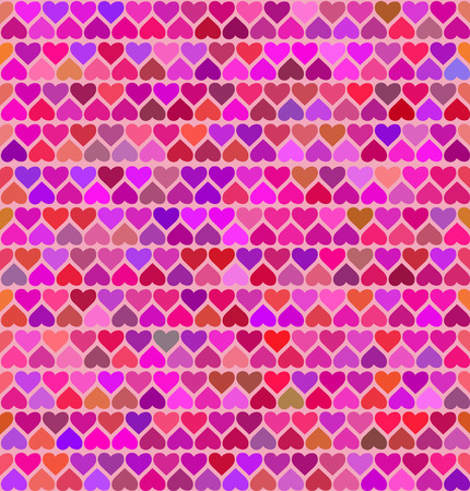 many coloured: Seamless patterns with colored hearts . Vector illustration