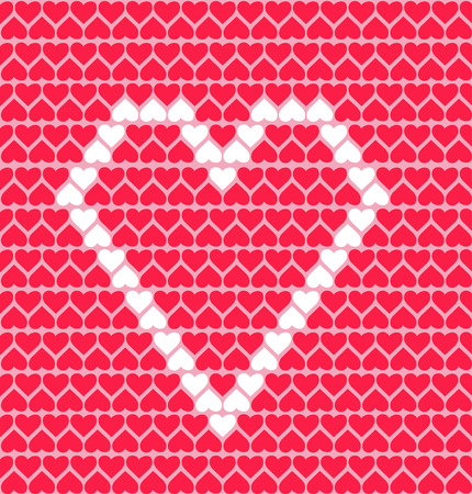 pattern  with hearts,  love for valentines Day . Vector illustration Vector