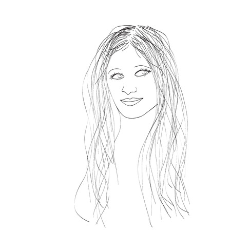 Female portrait, vector illustration Vector