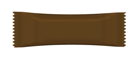 candy bar: Visiva del flusso rosso involucro di plastica pacchetto stagnola, imballaggio o wrapper per biscotti, wafer, crackers, dolci, barra di cioccolato, candy bar, snack ecc Vector