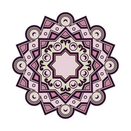 amulet: Beautiful Deco Colored Mandala, Patterned Design Element, Ethnic Amulet. Illustration