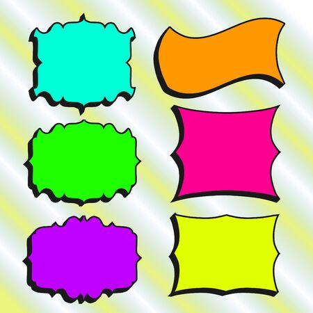handdrawn: Set of Hand-drawn frames for your design. Vector illustration