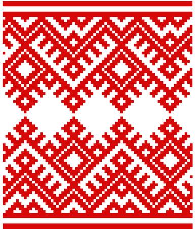 Belorussian ethnic ornament, pattern. Vector illustration. Slovenian Traditional Pattern Ornament. Background. Belarusian pattern