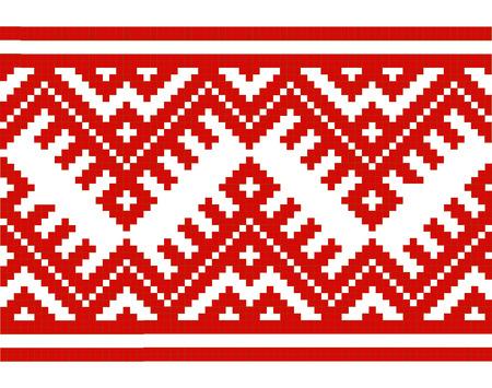 embroidered good like handmade cross-stitch ethnic Ukraine seamless pattern. Vector illustration