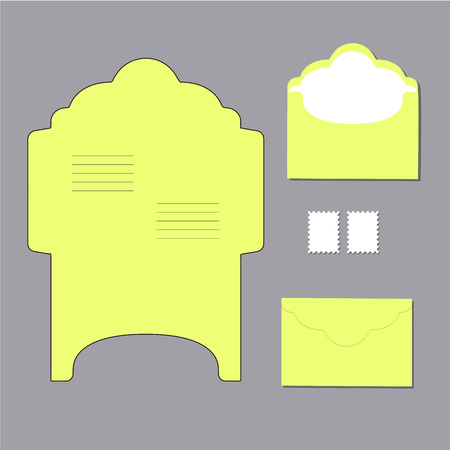 letter envelope: envelope templates. on grey background. Vector illustration Illustration