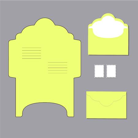 the envelope: envelope templates. on grey background. Vector illustration Illustration