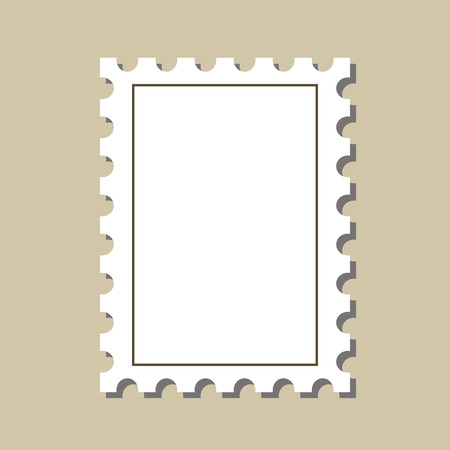 postmark: vector  stamp  postmark template. Isolated on white background Illustration