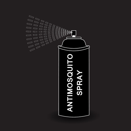 compressed gas: Spray icon. Vector  Aerosol Spray. spray isolated on black background. Vector illustration Illustration