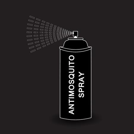 compressed gas cylinder: Spray icon. Vector  Aerosol Spray. spray isolated on black background. Vector illustration Illustration