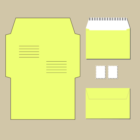 envelope: envelope templates. on grey background. Vector illustration Illustration