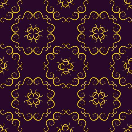 Gold Seamless pattern, Abstract Seamless pattern, Seamless pattern. Repeating geometric, Seamless floral pattern. Ilustração
