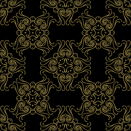 Tints of Black and Gold Seamless pattern, Abstract Seamless pattern, Seamless pattern. Repeating geometric, Seamless floral pattern. Фото со стока - 57500056
