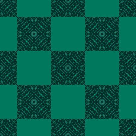 Elegant green background made of floral decorative pattern illustration