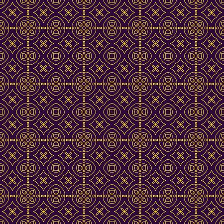 Elegant geometric background made of floral decorative pattern illustration