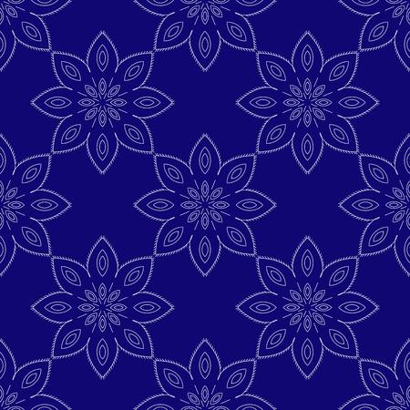 Blue mandala. Patterned Design Element