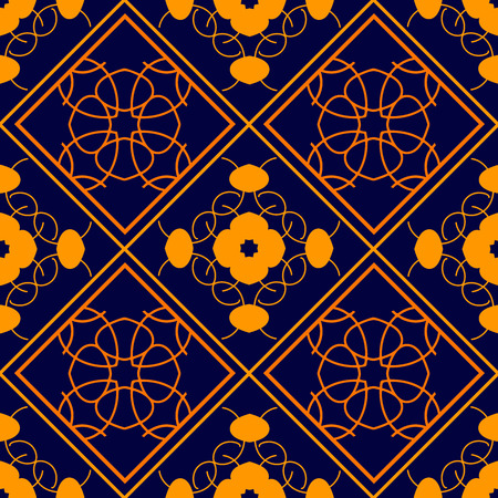 gothic revival: Elegant geometric background made of floral decorative seamless pattern.