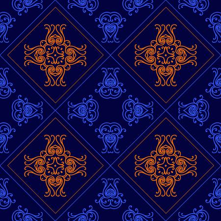 Elegant geometric background made of floral decorative seamlesspattern. Vector illustration