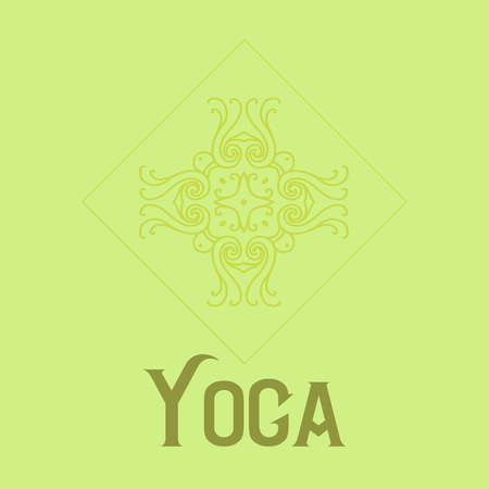 Simple logo with abstract curly symbol for yoga studio or yoga instructor. Company logo design. Vector illustration Фото со стока - 68423876
