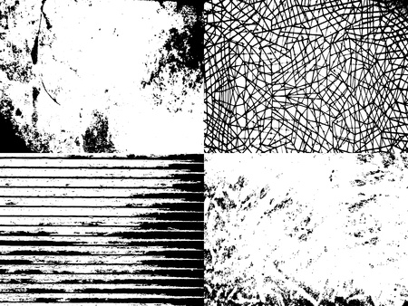 Set of abstract vector grunge textures for your design Illustration