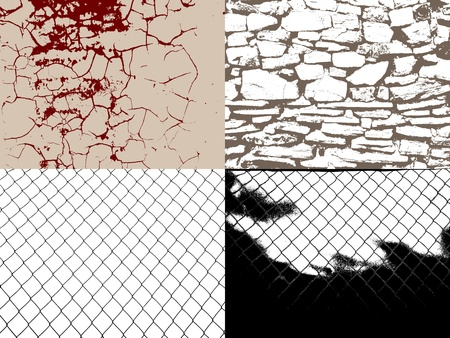 barbed wire frame: Set of vector retro grunge style backgrounds for your design Illustration