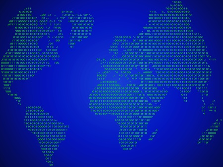 The abstract world map made ​​in the form of binary code Vector