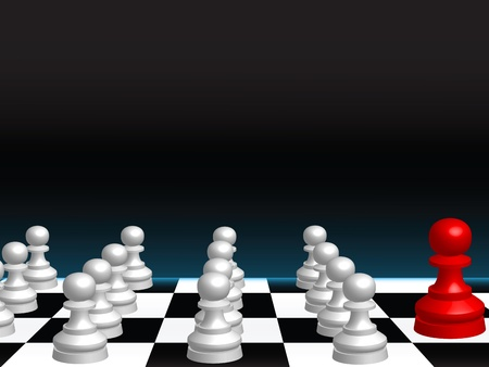 Abstract vector background with a chess board and pieces Vector