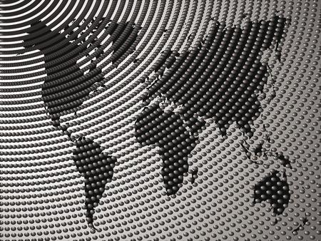 logo voyage: Vecteur de fond abstrait avec une carte noire du monde Illustration