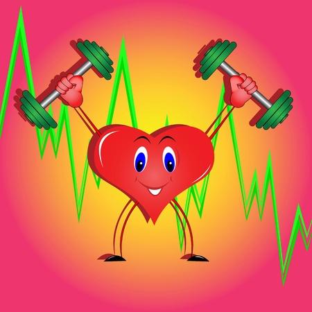 Die Abbildung auf dem Thema gesunde Lebensweise und Bewegung zu Herzen zu stärken Standard-Bild - 11659746