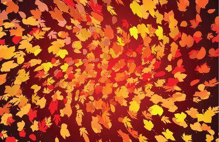 Vector background of dark swirling fallen autumn leaves Stock Vector - 11659717