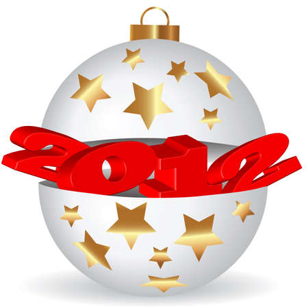 occurred: Christmas card background on a white background symbolizes the new year